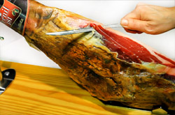 how cut spanish iberian whole ham