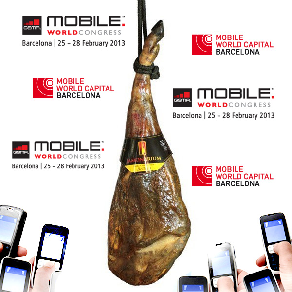 The Barcelona Mobile World Congress has arrived, come & taste our Spanish ham!!!