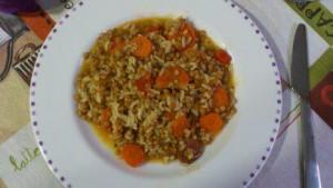Recipe: Lentils with chorizo de Leon