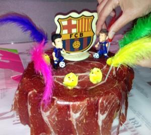 birthday cake Pata negra ham