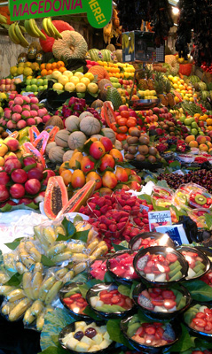 A tourist spot to visit in Barcelona: The Boqueria Market