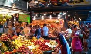 tourist spot boqueria market barcelona