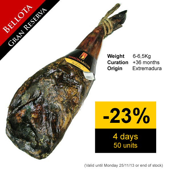 Discount on the Bellotas iberico pata negra shoulder ham