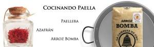 cooking paella rice saffron pan