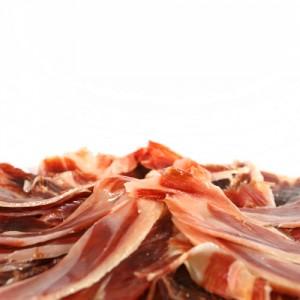 Sliced Iberico pata negra shoulder ham (cebo de campo)