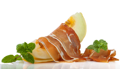 Recipes with Spanish ham: Pata negra Ham with melon