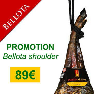 "Offer 5Kg Iberian Bellota shoulder ham, buy the best ""pata negra"" 89€"