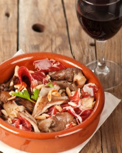 Recipe: Tapa mushrooms with pata negra ham and pine nuts