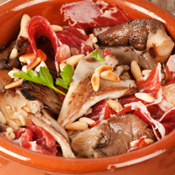 Recipe: Tapa mushrooms with pata negra ham and pine nuts
