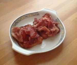 tapa aragonesa magras tomato