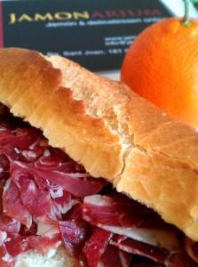 iberian ham orange against cold