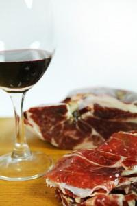 Spanish ham & wine