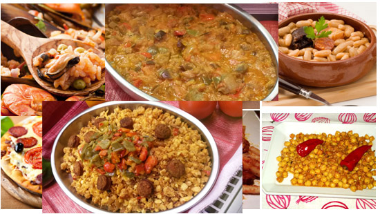 Dishes from Spain